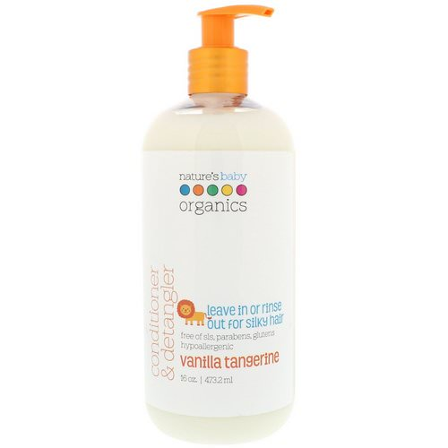 Nature's Baby Organics, Conditioner & Detangler, Vanilla Tangerine, 16 fl oz (473.2 ml) Review