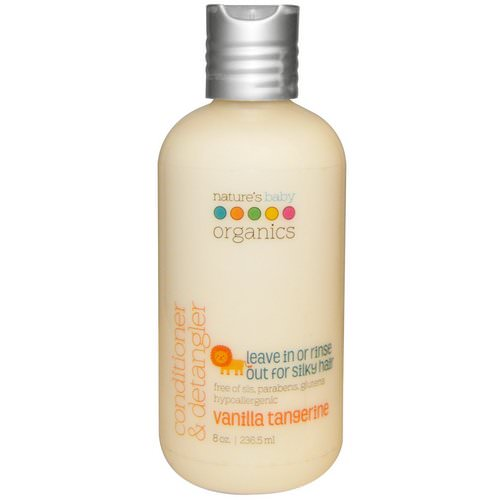 Nature's Baby Organics, Conditioner & Detangler, Vanilla Tangerine, 8 fl oz (236.5 ml) Review