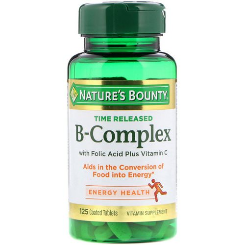 Nature's Bounty, B-Complex, Time Released, 125 Coated Tablets Review