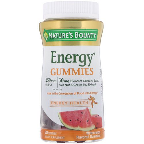 Nature's Bounty, Energy Gummies, Watermelon Flavored, 60 Gummies Review