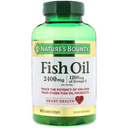 Nature's Bounty, Fish Oil, 2,400 mg, 90 Coated Softgels Review