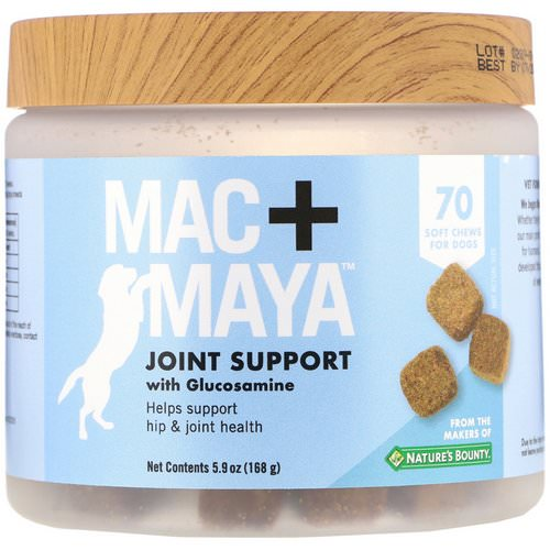 Nature's Bounty, Mac + Maya, Joint Support with Glucosamine, For Dogs, 70 Soft Chews Review