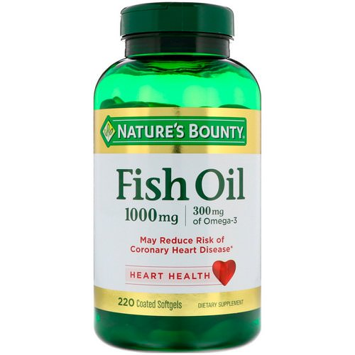 Nature's Bounty, Fish Oil, 1,000 mg, 220 Coated Softgels Review
