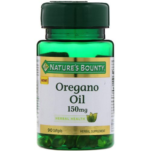 Nature's Bounty, Oregano Oil, 150 mg, 90 Softgels Review