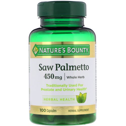 Nature's Bounty, Saw Palmetto, 450 mg, 100 Capsules Review