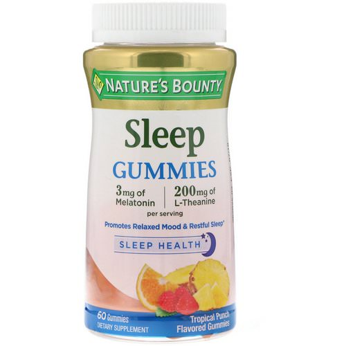 Nature's Bounty, Sleep Gummies, Tropical Punch Flavored, 60 Gummies Review