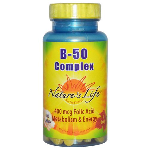 Nature's Life, B- 50 Complex, 100 Tablets Review