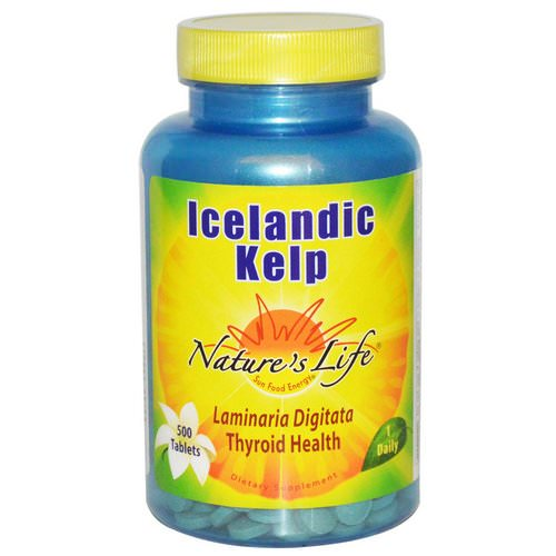Nature's Life, Icelandic Kelp, 500 Tablets Review
