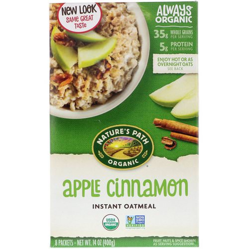Nature's Path, Organic Instant Oatmeal, Apple Cinnamon, 8 Packets, 14 oz (400 g) Review