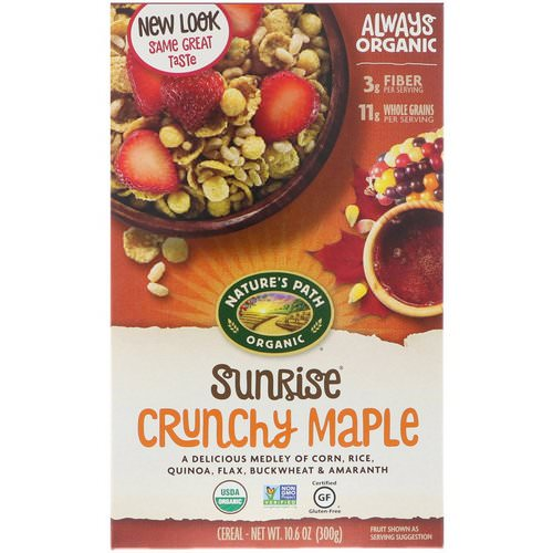Nature's Path, Organic, Sunrise Crunchy Maple Cereal, Gluten Free, 10.6 oz (300 g) Review