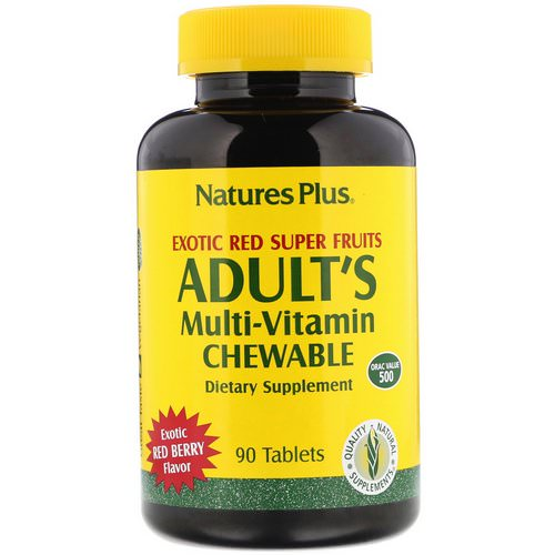 Nature's Plus, Adult's Multi-Vitamin Chewable, Exotic Red Berry, 90 Tablets Review