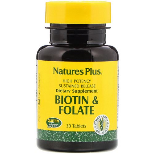 Nature's Plus, Biotin & Folate, 30 Tablets Review