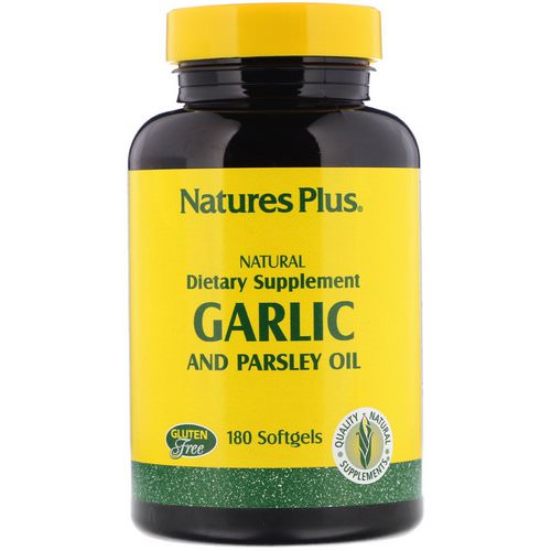 Nature's Plus, Garlic and Parsley Oil, 180 Softgels Review