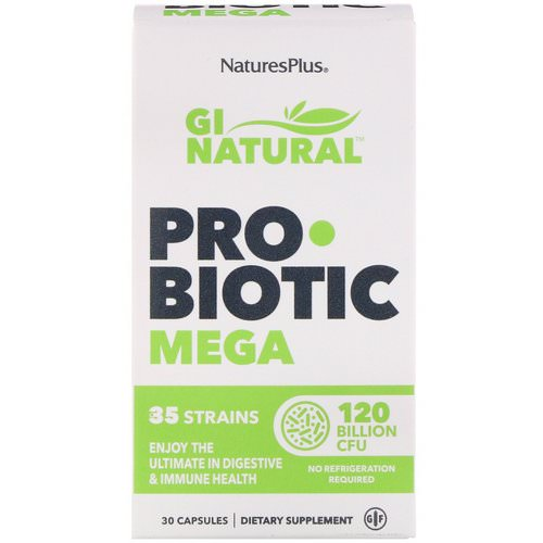 Nature's Plus, GI Natural Probiotic Mega, 120 Billion CFU, 30 Capsules Review