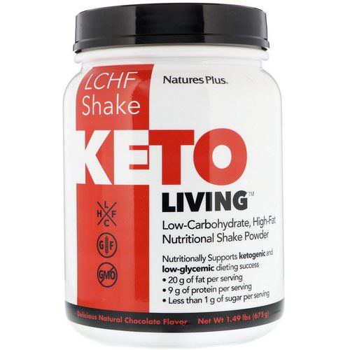 Nature's Plus, KetoLiving, LCHF Shake, Delicious Natural Chocolate Flavor, 1.49 lbs (675 g) Review