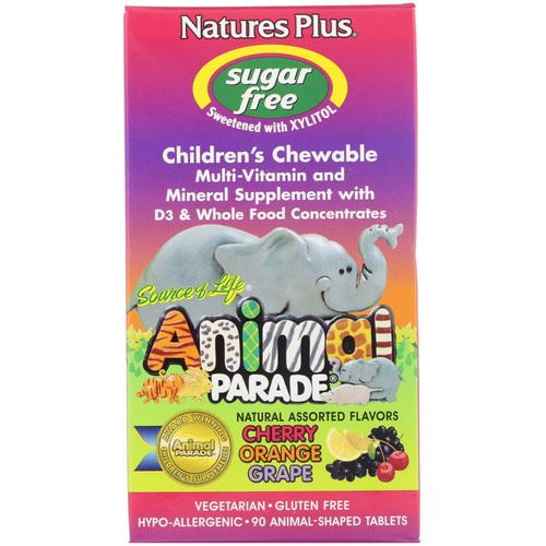 Nature's Plus, Source of Life, Animal Parade, Children's Chewable, Natural Assorted Flavors, 90 Animals Review