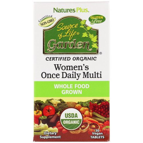 Nature's Plus, Source of Life Garden, Women's Once Daily Multi, 30 Vegan Tablets Review