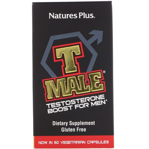 Nature's Plus, T Male, Testosterone Boost For Men, 60 Vegetarian Capsules Review