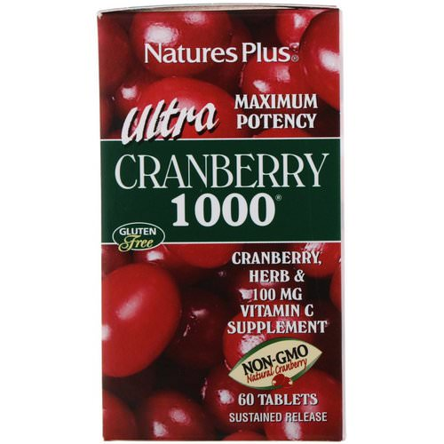 Nature's Plus, Ultra Cranberry 1000, 60 Tablets Review