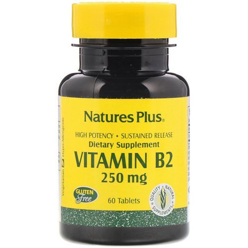 Nature's Plus, Vitamin B-2, 250 mg, 60 Tablets Review