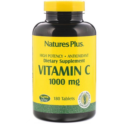 Nature's Plus, Vitamin C, 1000 mg, 180 Tablets Review