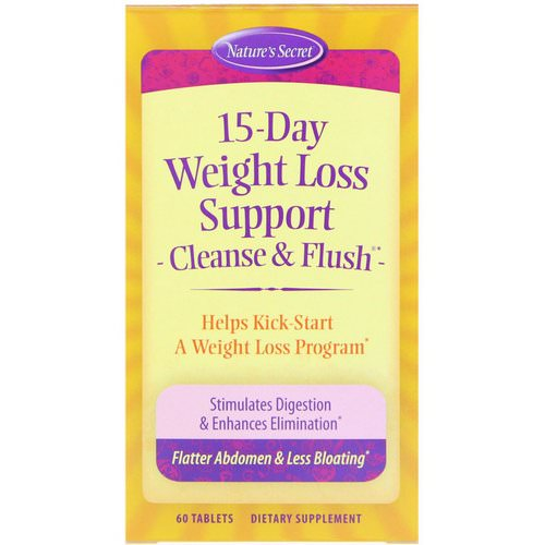 Nature's Secret, 15-Day Weight Loss Support, Cleanse & Flush, 60 Tablets Review