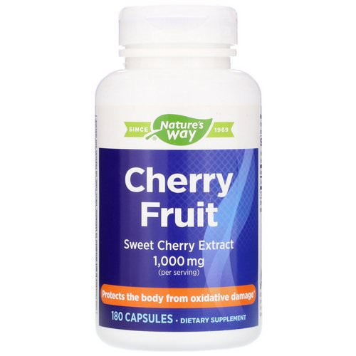 Nature's Way, Cherry Fruit, Sweet Cherry Extract, 1,000 mg, 180 Capsules Review