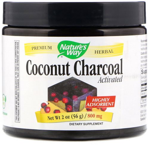 Nature's Way, Coconut Charcoal, Activated, 800 mg, 2 oz (56 g) Review