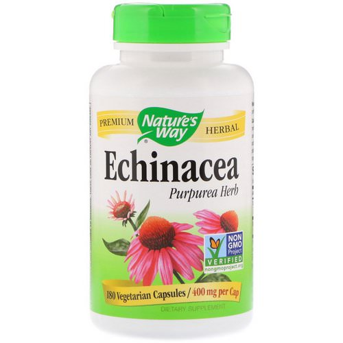 Nature's Way, Echinacea Purpurea Herb, 400 mg, 180 Vegetarian Capsules Review