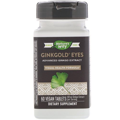 Nature's Way, Ginkgold Eyes, 60 Vegan Tablets Review