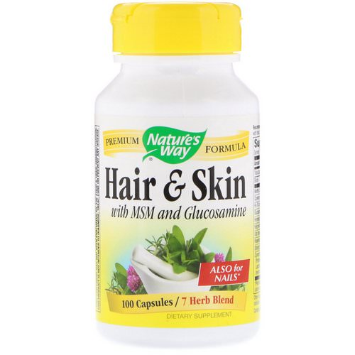 Nature's Way, Hair & Skin, With MSM and Glucosamine, 100 Capsules Review