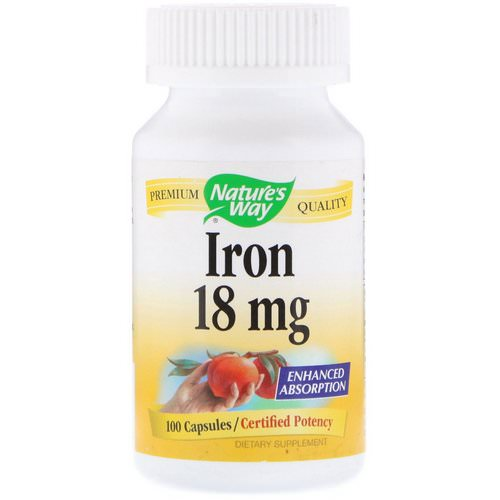 Nature's Way, Iron, 18 mg, 100 Capsules Review