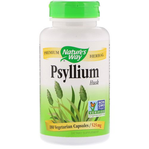Nature's Way, Psyllium Husk, 525 mg, 180 Vegetarian Capsules Review