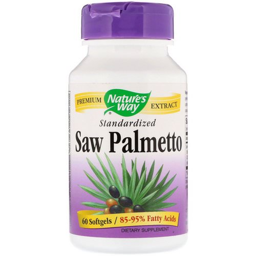Nature's Way, Saw Palmetto Standardized, 60 Softgels Review