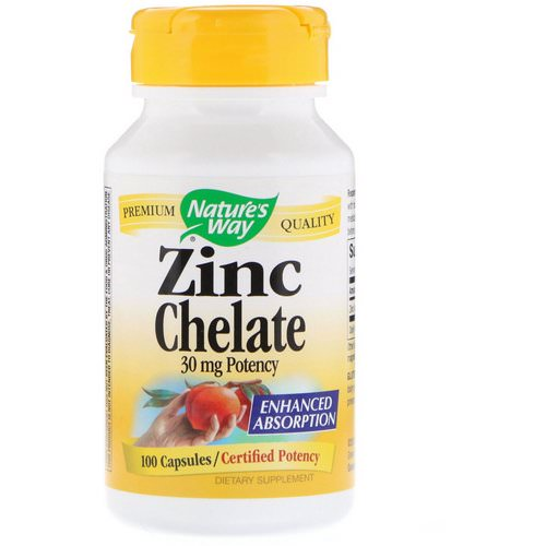 Nature's Way, Zinc Chelate, 30 mg, 100 Capsules Review