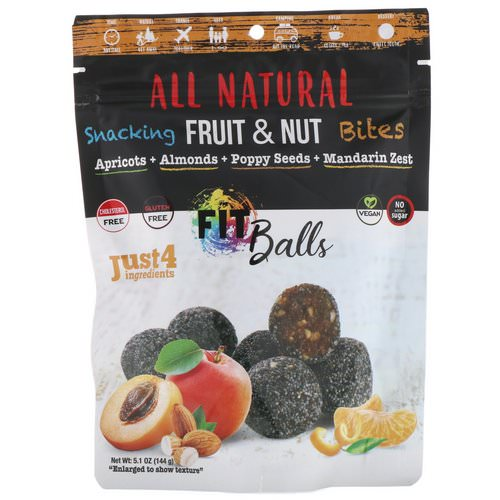 Nature's Wild Organic, All Natural, Snacking Fruit & Nut Bites, Fit Balls, Apricots + Almonds + Poppy Seeds + Mandarin Zest, 5.1 oz (144 g) Review
