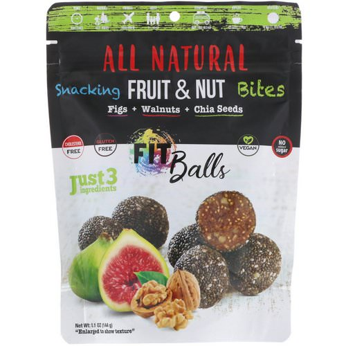 Nature's Wild Organic, All Natural, Snacking Fruit & Nut Bites, Fit Balls, Figs + Walnuts + Chia Seeds, 5.1 oz (144 g) Review
