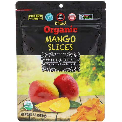 Nature's Wild Organic, Wild & Real, Dried, Organic Mango Slices, 3.5 oz (100 g) Review