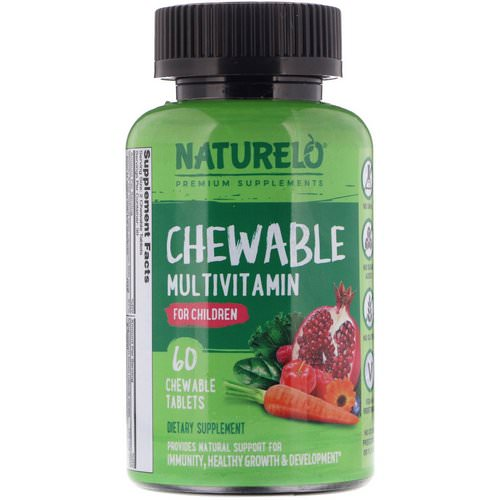 NATURELO, Chewable Multivitamin for Children, 60 Chewable Tablets Review