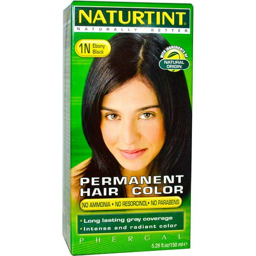 Naturtint, Permanent Hair Color, 1N Ebony Black, 5.28 fl oz (150 ml) Review