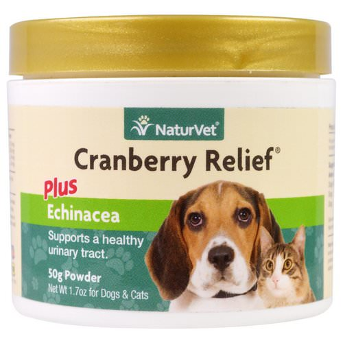 NaturVet, Cranberry Relief Plus Echinacea, For Dogs & Cats, 1.7 oz (50 g) Powder Review