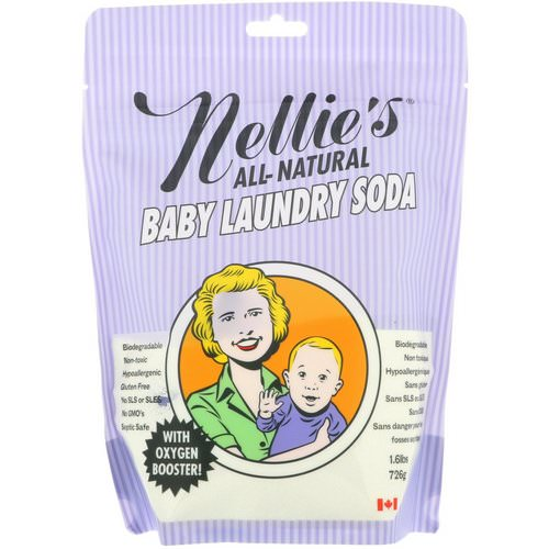 Nellie's, All-Natural, Baby Laundry Soda, 1.6 lbs (726 g) Review