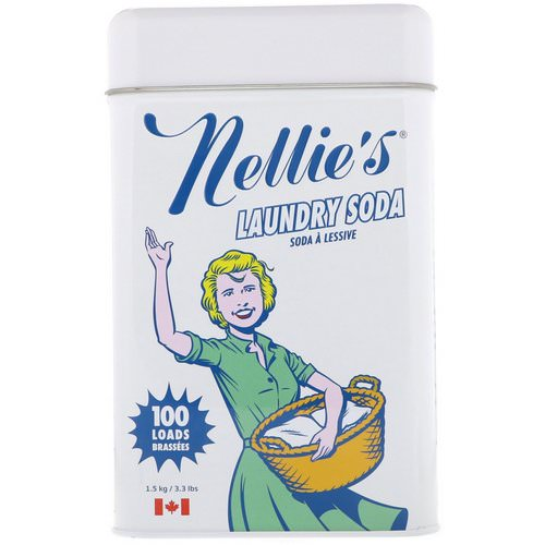 Nellie's, Laundry Soda, 100 Loads, 3.3 lbs (1.5 kg) Review