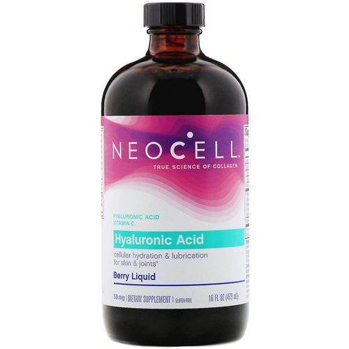 Neocell, Hyaluronic Acid, Berry Liquid, 50 mg, 16 fl oz (473 ml) Review