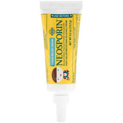 Neosporin, Dual Action Cream, Pain Relief Cream, For Kids Ages 2 +, 0.5 oz (14.2 g) Review