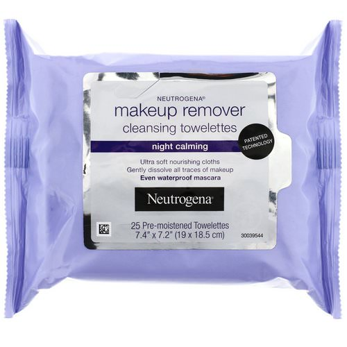 Neutrogena, Makeup Remover Cleansing Towelettes, Night Calming, 25 Pre-Moistened Towelettes Review