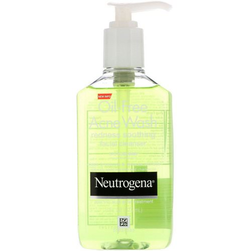 Neutrogena, Oil Free Acne Wash, Redness Soothing Facial Cleanser, 6 fl oz (177 ml) Review
