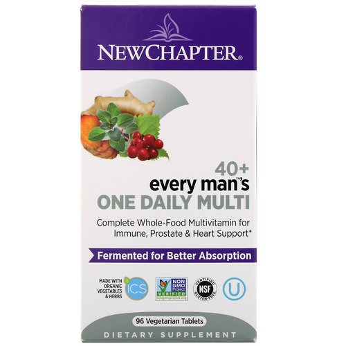 New Chapter, 40+ Every Man's One Daily Multi, 96 Vegetarian Tablets Review