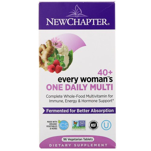New Chapter, 40+ Every Woman's One Daily Multi, 96 Vegetarian Tablets Review