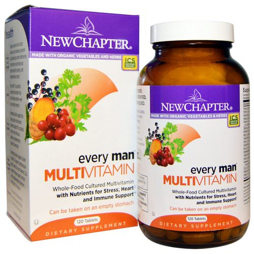 New Chapter, Every Man Multivitamin, 120 Tablets Review